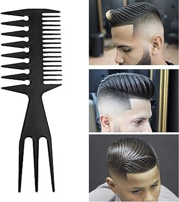 Barber Peigne A Dents Larges Double Face Pour Homme Grand Amazon Fr Beaute Et Parfum