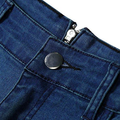 Taille Fermeture Haute rtro Jeans Pantalon Crayons clair Bleu Youngii Pantalons Denim fit arrire Femme dcontracte Slim Classique nxEwF