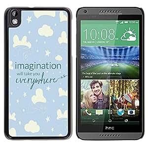 Be Good Phone Accessory // Dura Cáscara cubierta Protectora Caso Carcasa Funda de Protección para HTC DESIRE 816 // Sky Night Kid Blue Stars Clouds