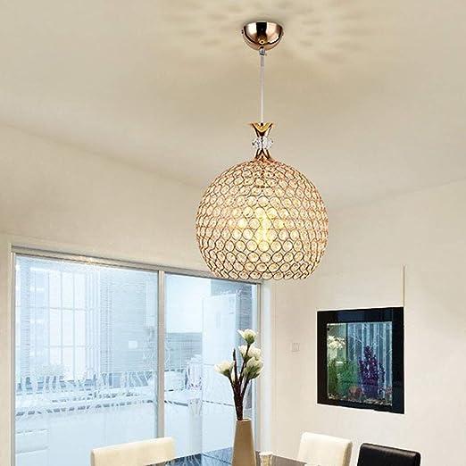 XGFYW Lámpara Colgante Moderna de Cristal E27 Luces Colgantes ...