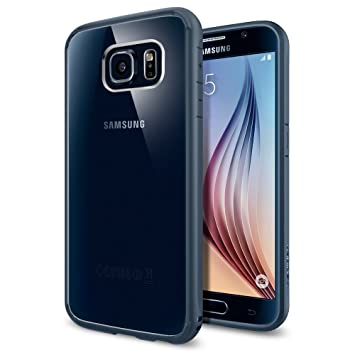 Spigen Funda Galaxy S6, Carcasa [Ultra Hybrid] Tecnología de amortiguación de Aire y protección híbrida contra caídas para Samsung Galaxy S6, Pizarra ...