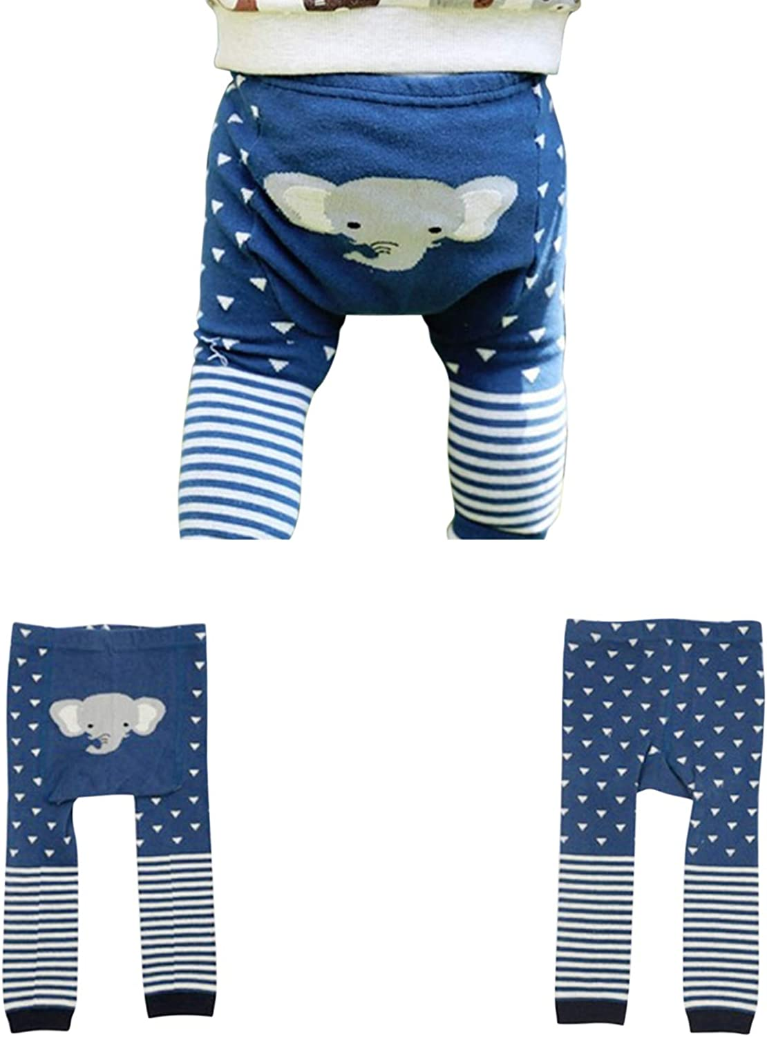 Evelin LEE Baby Unisex Cute Leggings Spring Fall Cartoon Seamless Knitted Warm Tights