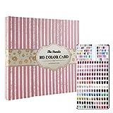 120 Colors Nail Art Display Color Chart Book, Salon Gel Colors Show Nail Polish Pattern Designs Nail Tips Storage Tools(Stripe)