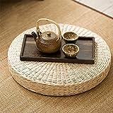 Ragdoll50 Natural Woven Grass Floor Cushion, Yoga Round Beige Garden Dining Room Cushion for Home Decor