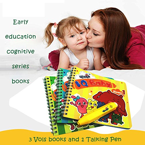 (Geminismart Famous in-Home Learning Brand Reading Pen Smart Pen Talking Pen 3 Home Topics Book Experts Customized Early Education Cognitive Books Gift Box Logic Training 2 to 6 Years Kids)