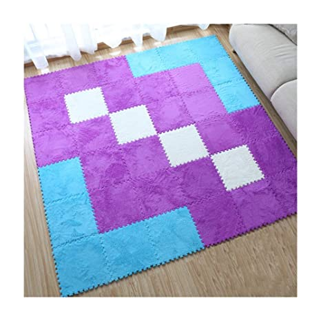 Fur Form Puzzle Floor Mat Pad Baby Crawling Cutting Area Rug Play Carpet For Kid