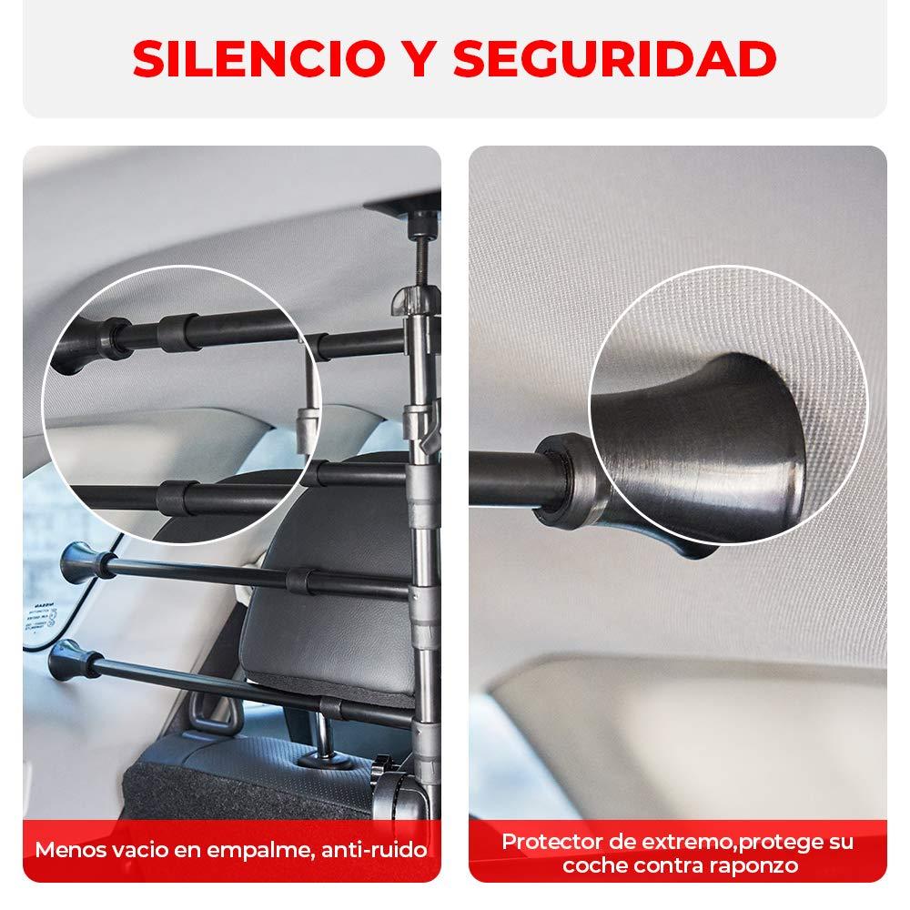ISSYZONE Grille pour Chiens Voiture Barri/ère Protection Chien Grille S/éparateur M/étallique Isolation de Chiens Extensible 32-50 cm x 82-145 cm