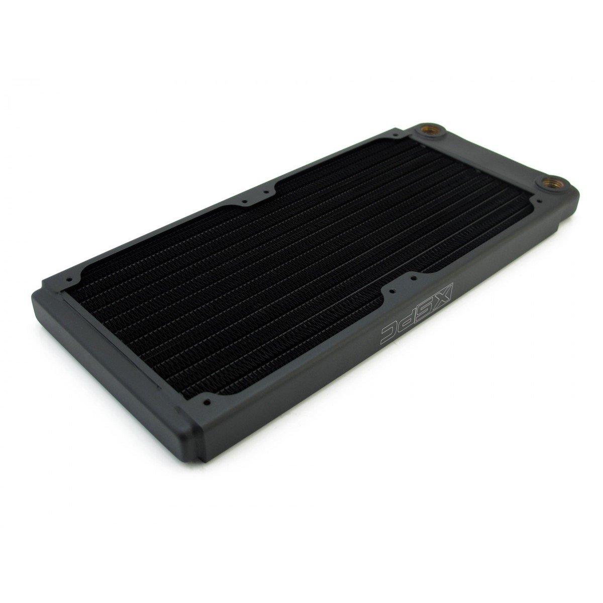 XSPC TX240 Ultra Thin Radiator, 120mm x 2, Dual Fan, Black