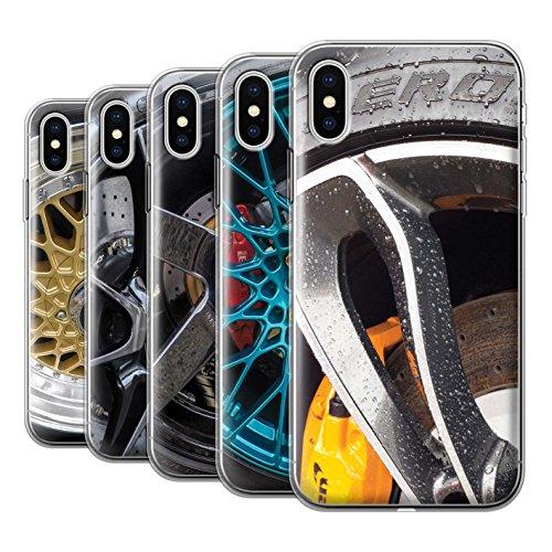 Stuff4 Gel TPU Hülle / Case für Apple iPhone X/10 / Pack 20pcs / Leichtmetallfelgen Kollektion