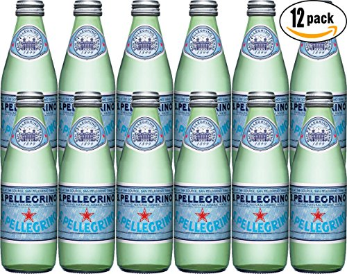 San Pellegrino Sparkling Natural Mineral Water, 8.45oz Glass Bottle (Pack of 12) - San Pellegrino Mineral Water