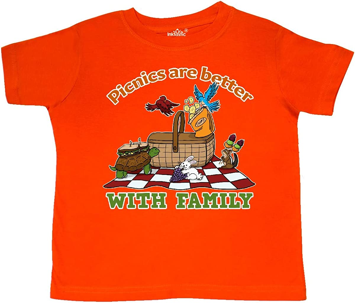 inktastic Picnics are Better with Family with Picnic Scene Toddler T-Shirt