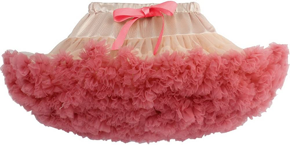 Odziezet Baby Girls Fluffy Pettiskirt Tutu Kids Ballet Party Dance Skirt Princess Tulle Bubble Skirt for Girls 0-10 Years