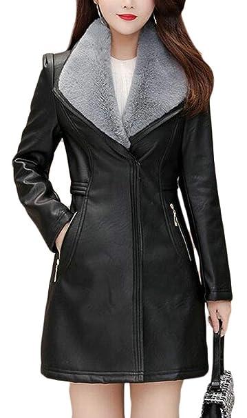 Amazon.com: MMCP - Chaqueta de piel sintética para mujer de ...