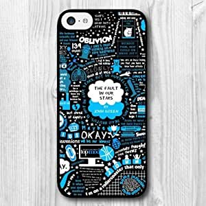 MMZ DIY PHONE CASEFor ipod touch 5 Case,Fashion Design The Fault In Our Stars Pattern Protective Hard Phone Cover Skin Case For ipod touch 5 +Screen Protector