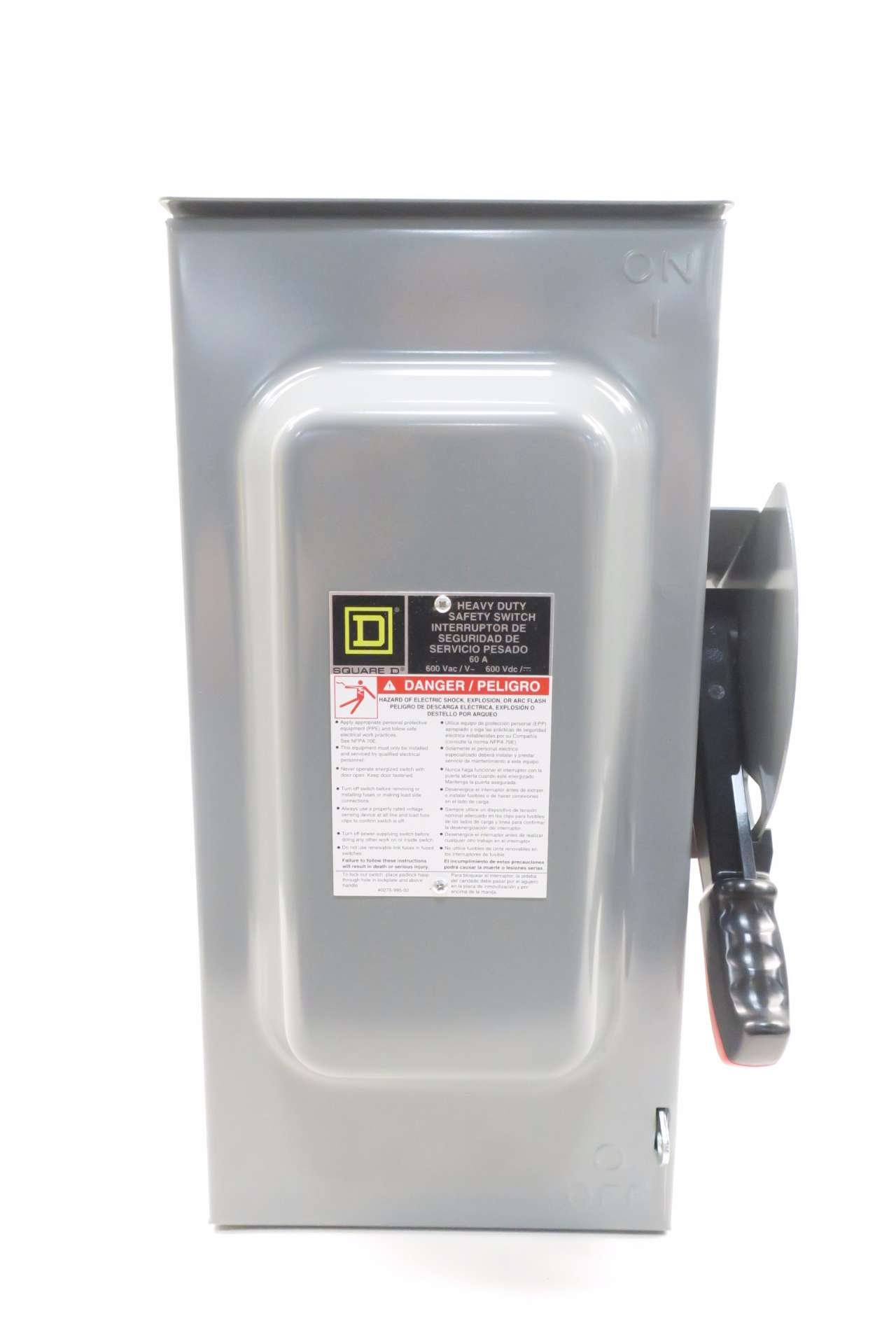 NEW SQUARE D H362RB 60A 600V-AC 3P FUSIBLE SAFETY DISCONNECT SWITCH D537667 by Square D (Image #2)