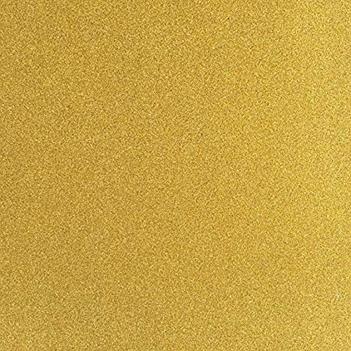 TooMeeCrafts 12-Inch by 12-Inch Glitter Cardstock, Gold Color,Pack