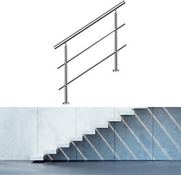 HENGDA® 100 cm 2 Traverse pasamanos de acero inoxidable pasamanos para escaleras de acero inoxidable con travesera sistema de montaje interno Traverse: Amazon.es: Bricolaje y herramientas