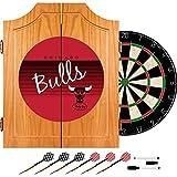 NBA Chicago Bulls Wood Dart Cabinet Set, One Size, Brown