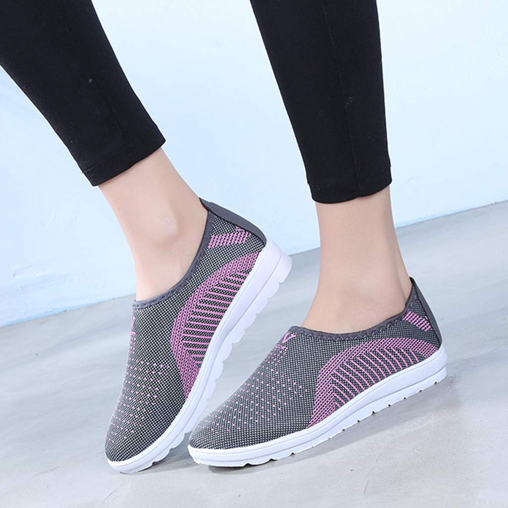 699f093af0de Hotcl 2019 New Women s Slip-On Sneakers Mesh Loafer Casual Stripe Beach  Street Walking Shoes at Amazon Women s Coats Shop