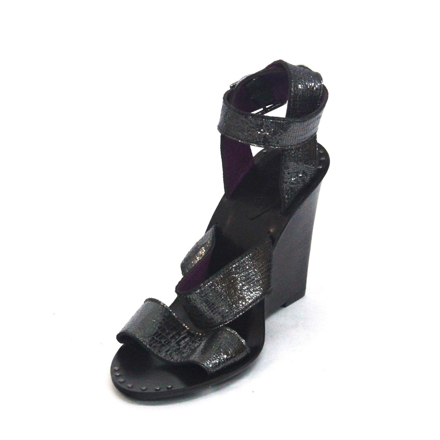 Juicy Couture Zehenöffnung Keilabsatz Sandale Sandale Sandale UK Größe 4 Grau-steel 998fd3