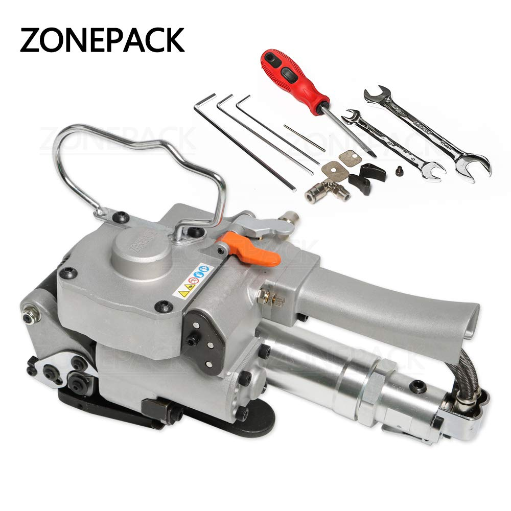ZONEPACK Pneumatic Strapping Tool Handheld Package Packing Machine for PP and PET Portable Strapping Machine 1/2Inch to 3/4Inch (13-19mm) by ZONEPACK