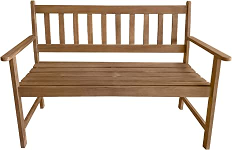 Patio Furniture Outdoor Patio Bench Wood Garden Bench Park Bench Acacia Wood for Pool Beach Backyard Balcony Porch Deck Garden Wooden Furniture, Natural Oiled