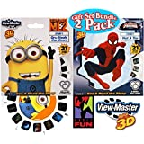 "Basic Fun View-Master Classic 3D Adventures 3 Reel Refills ""Despicable Me 2"" (Minions) & ""Spider-Man"" Gift Set Bundle - 2 Pack"