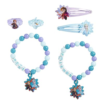 Disney Frozen 2 Best Friends Accessory Set, Includes: 2 Bracelets, 2 Rings, 2 Hair Snap Barrettes: Toys & Games