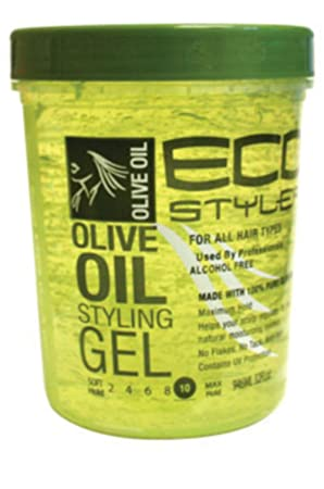 Eco Styler Styling Gel 32 oz. Olive Oil 3-Pack with Free Nail File
