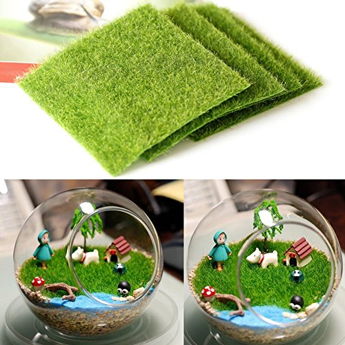 Artificial garden grass lawn moss miniature craft pot for Artificial grass decoration