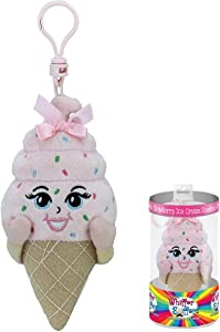 """Whiffer Sniffers Shirley Cone Strawberry Ice Cream Scented Backpack Clip, 5"""""""