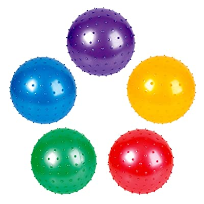 Rhode Island Novelty 7 Inch Knobby Balls Assorted Colors 12 Pack : Sports & Outdoors