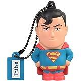 Tribe DC Comics Action Figure Superman Chiavetta USB da 8 GB Pendrive Memoria USB Flash Drive 2.0 Memory Stick, Idee Regalo Originali, Figurine 3D, Archiviazione Dati USB Gadget in PVC con Portachiavi - Multicolore