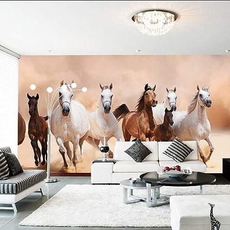 Amazon Com Dalxsh Modern 3d Horse Photo Wallpaper Mural Home