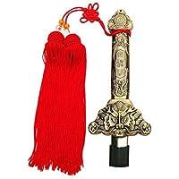 Espada china G-like extensible para Tai Chi y Kung Fu, retráctil y de acero inoxidable, sin filo, 90 cm