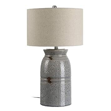 Lámpara de cerámica Gris de diseño provenzal para salón ...