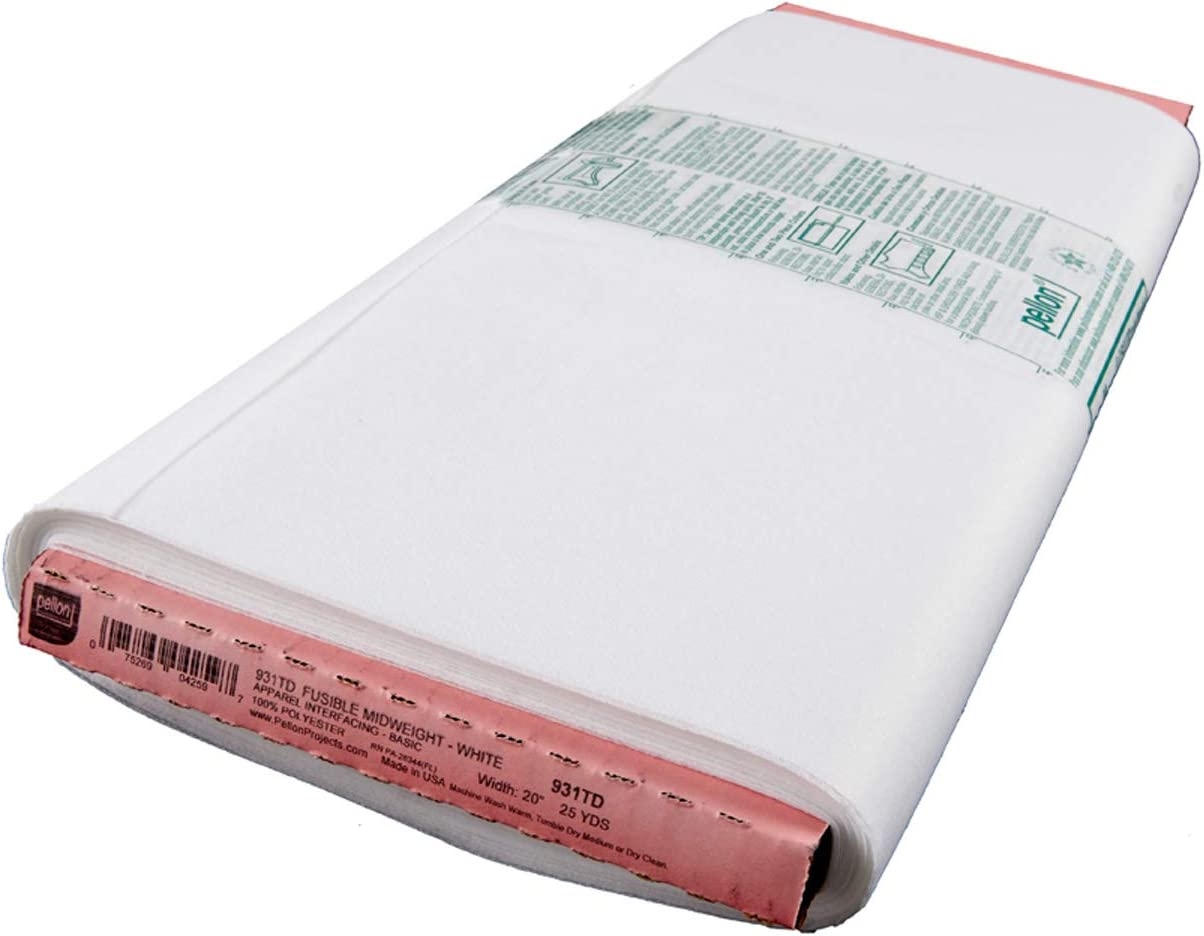 Pellon Fusible interfacing for mid to Heavyweight Fabrics, White