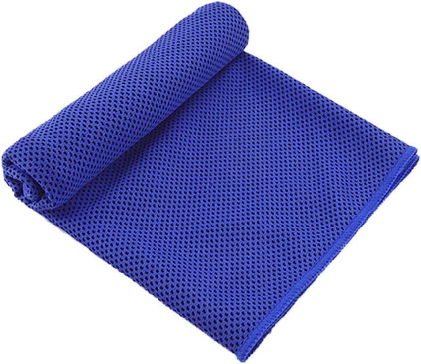 YUMUO Solid Color Cooling Towel,Bottle ICY Towel Microfiber Towel Breathable Chilly Neck Instant Cooling for Fitness Gym Yoga Running Outdoor -e