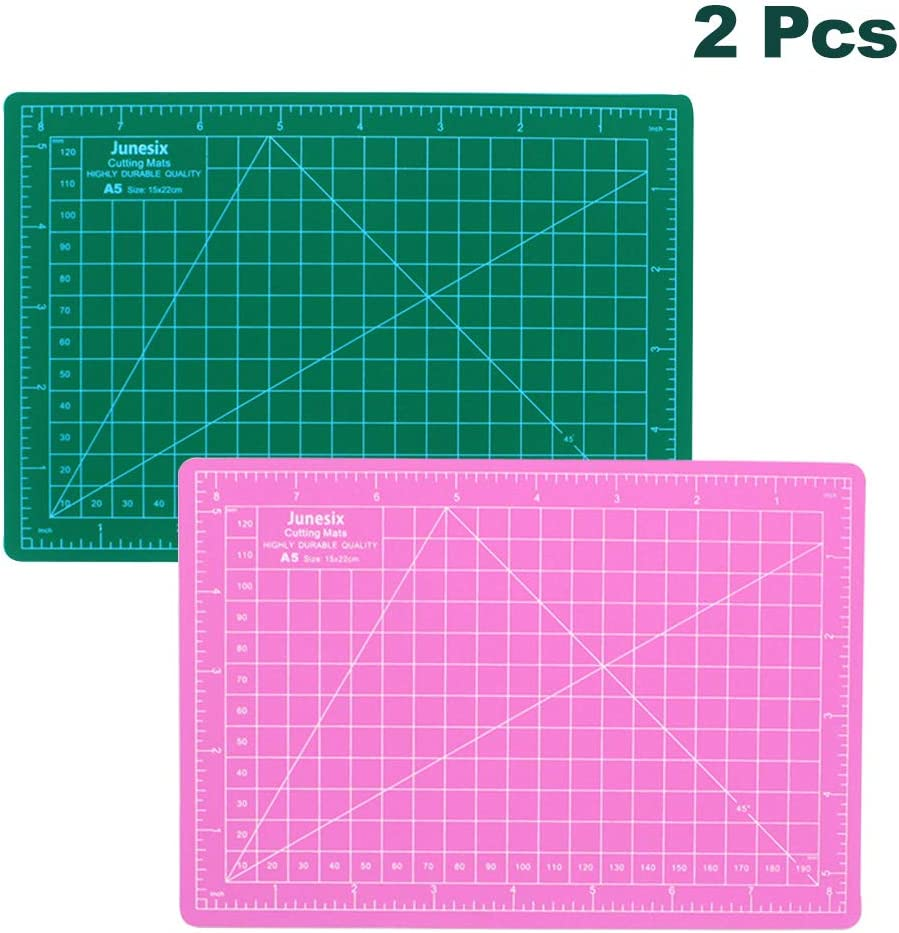 Amazon Com 2 Pcs Double Sided Self Healing Cutting Mat Rotary Cutting Board With Grid Non Slip Surface Rotary Cutter For Craft Fabric Quilting Sewing Scrapbooking Project 2 Pcs