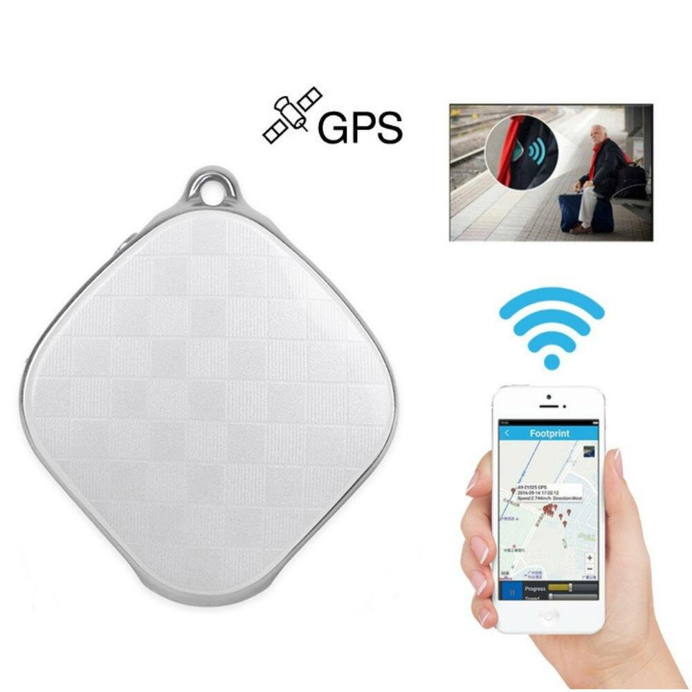 Hangang Mini Locator Micro A9 GPS Tracker Wifi Positioning Tracker Multifunction tracker Locator GPS+LBS Dual Modes Locating Device Tracking SOS Alarm Voice Monitoring For Vehicle,Elderly(White)