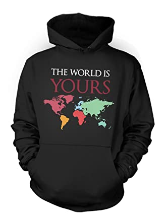 The world is yours world map traveling mens hoodie sweatshirt at the world is yours world map traveling mens hoodie sweatshirt black small gumiabroncs Images
