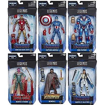 Avengers: Endgame Marvel Legends Wave 3 Set of 6 Figures (Thor BAF): Toys & Games