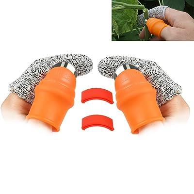 OFNMY 2-Pack Garden Silicone Thumb Knife Separator Finger Knife Harvesting Plant Knife Plant Gardening Gifts Trim Garden Vegetable Gardening Tools(Large Silicone Thumb Knife) : Garden & Outdoor