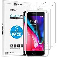 OMOTON [zestaw 3 sztuk] Ochraniacz ekranu do iPhone'a 8 Plus / iPhone 7 Plus [5,5 cala], z szablonem, twardość 9H…