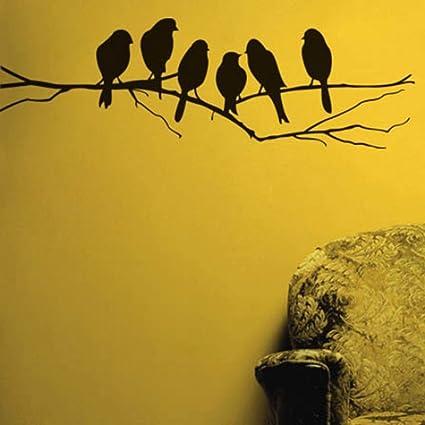 Buy decals design sparrows branch wall sticker pvc vinyl 45 cm x decals design sparrows branch wall sticker pvc vinyl 45 cm x 60 thecheapjerseys Gallery