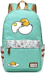 Siawasey Gudetama Lazy Egg Backpack Cartoon Laptop Daypack Shoulder School Bag (A2)