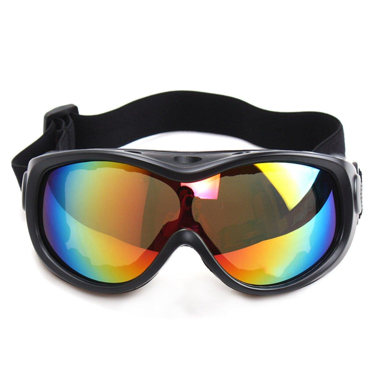 WDAKOWA Skispiegel Outdoor Winddicht Sport Brillen Herren Damen Kinder,Yellow