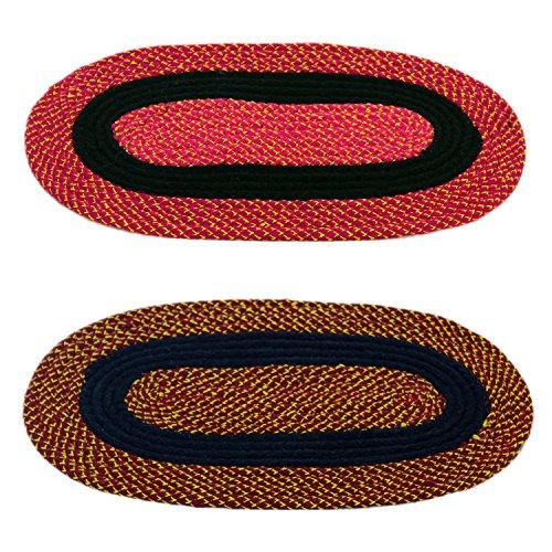 Story@Home Handicraft Style Eco Series 2 Piece Cotton Blend Door Mat Set - 16