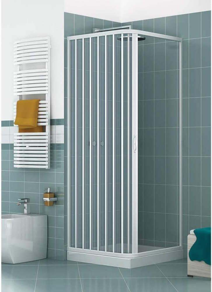 Cabina de ducha de esquina con paredes de fuelle reducibles, dos lados, 185 cm de altura, para baño, Luna, 70/80 x 110/120 x 185 cm: Amazon.es: Bricolaje y herramientas