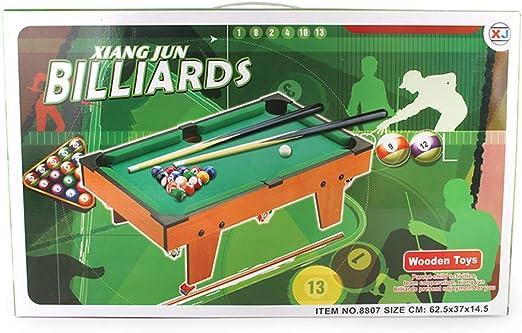 YJF Mini De Madera sobre La Mesa De Billar Mesa De Billar Snooker Family Fun Juego Completo De 25